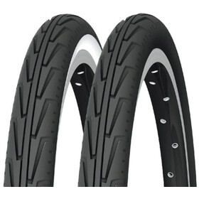 "Michelin City'J Bike Tyre 22"" wire white/black"